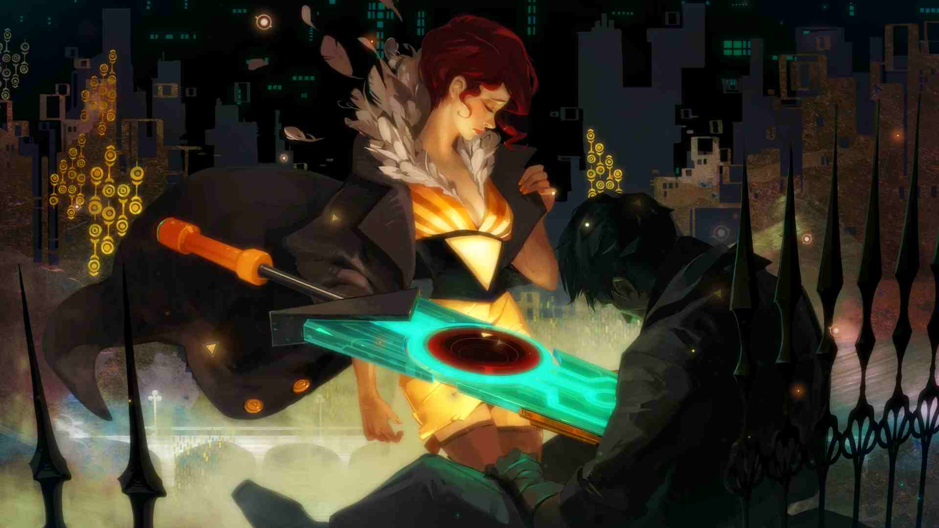 Transistor game art, opening act