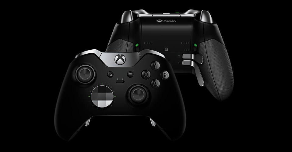 Front and back view of Xbox One Elite Controller